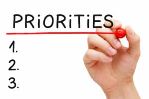 Blank priorities list