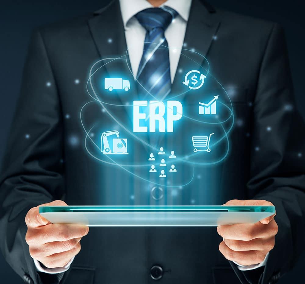 Enterprise resource planning ERP concept