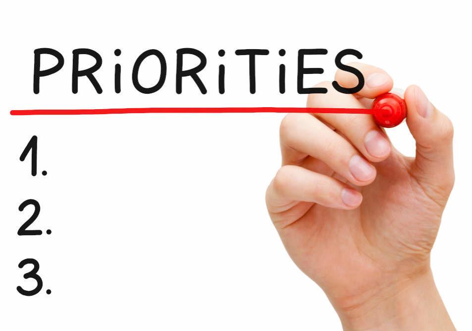 Blank priorities list